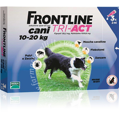 Frontline tri-act 3pip 10-20kg