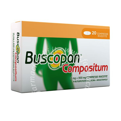 Buscopan compositum 10 mg + 500 mg compresse rivestite 20 compresse
